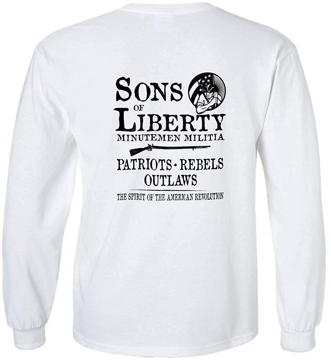 Sons Of Liberty Minuteman Militia Outlaws Sons Long Sleev. Rebels Patriots