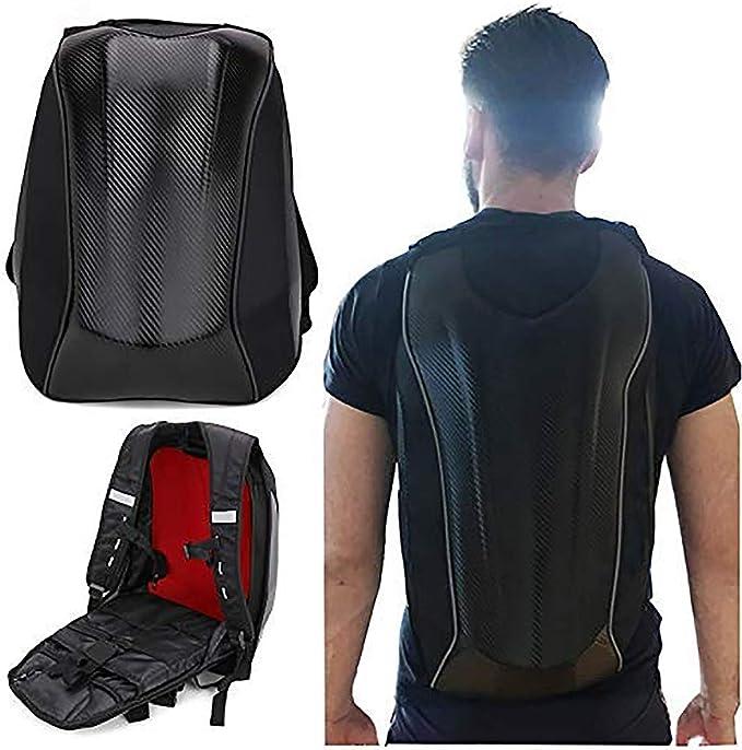 Motorcycle Carbon Fiber Backpack Bike Riding Racing Storage Bag Outdoor Travel