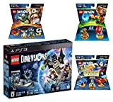 Lego Dimensions Starter Pack + Sonic The Hedgehog Level Pack + Gremlins Team Pack + E.T. Fun Pack for Playstation 3 or PS3 Slim Console