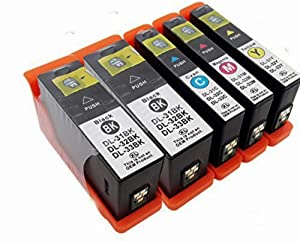-Made in USA- Dell Series 31 Ink Cartridge Replacements for Dell V525w and V725w Printers (5 Pack-Extra High Yield)