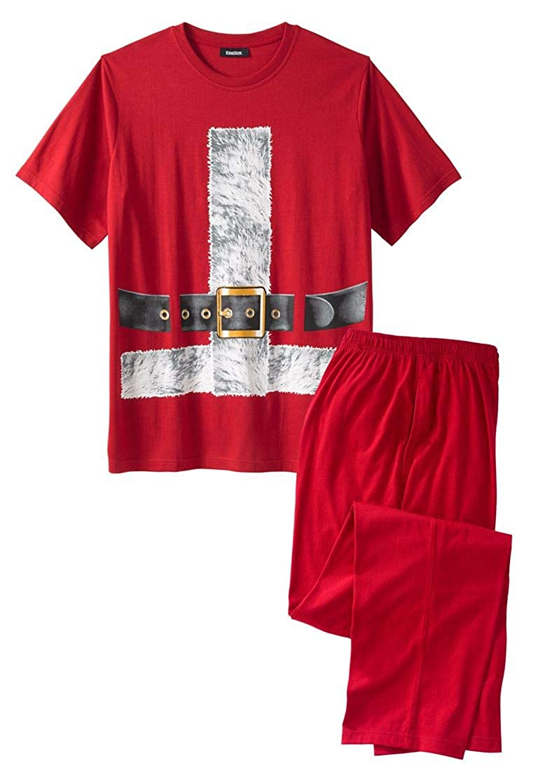 KingSize Men's Big & Tall Holiday Pajama Set