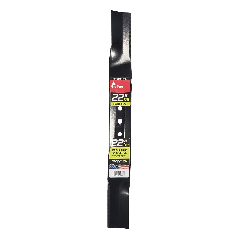 "Maxpower 331376 Mower Blade for 22"" Cut Toro Recycler Replaces Toro 104-8697-03, 108-9764-03"