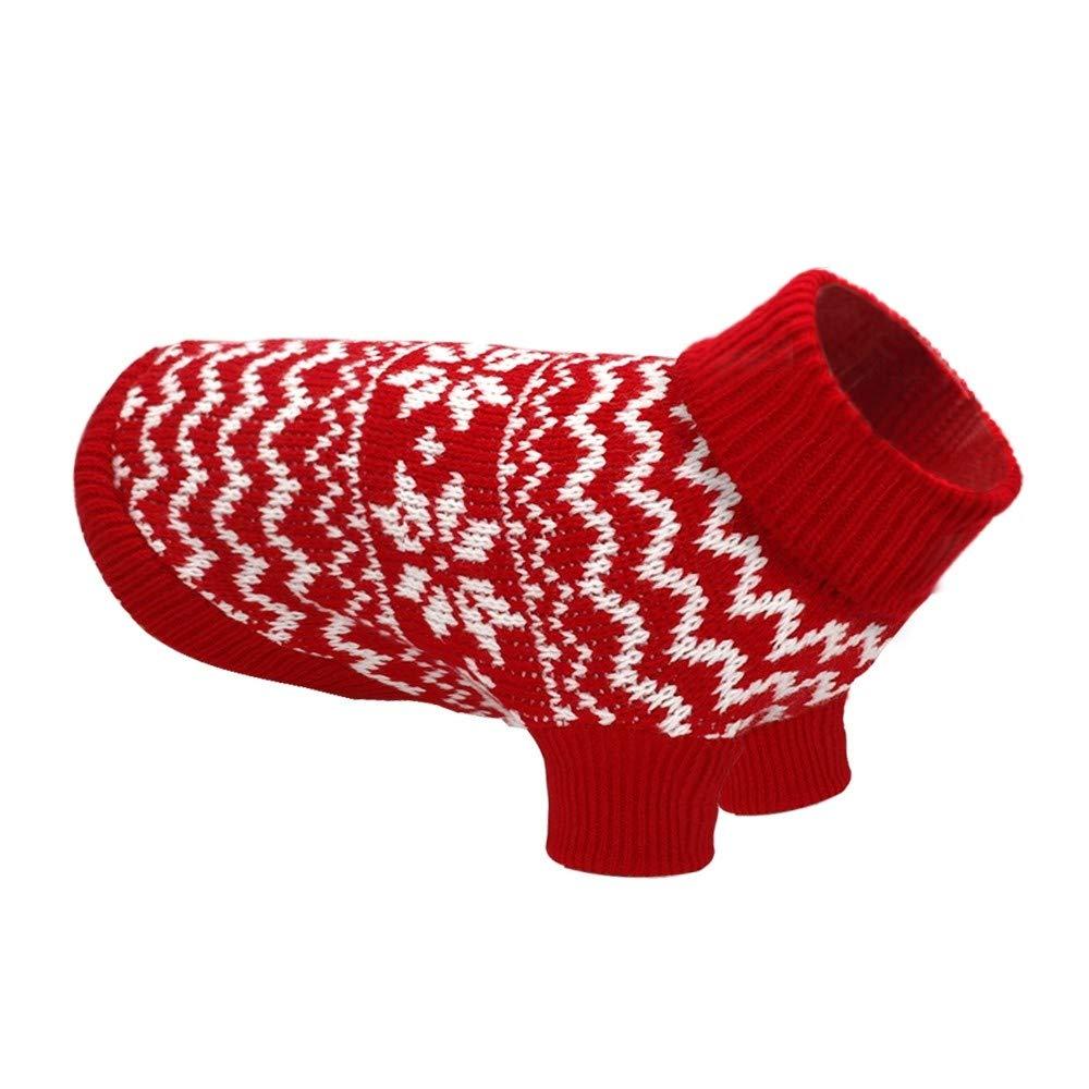 TYJY Maglione Per Cuccioli Di Gatto Gatto Invernale Vestiti Per Cani Di Piccola Taglia Dolcevita Maglieria Chihuahua Abbigliamento Cane Gatto Costume S