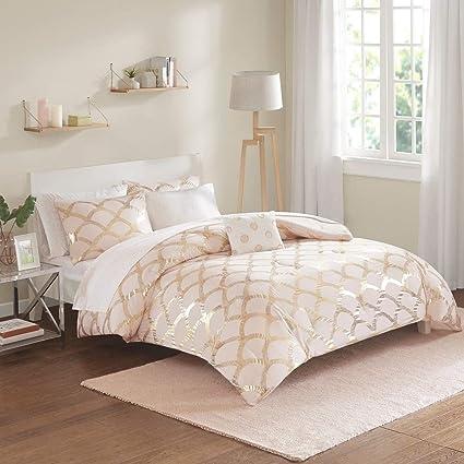Blush Pink Bedding Sets.Amazon Com 8 Piece Glam Modern Style Blush Pink Bedding