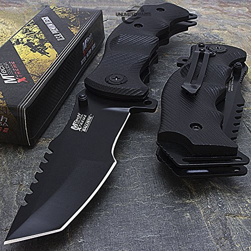 9'' M-Tech G10 Tracker Spring Assisted Open Folding Pocket Outdor Knife Tactical Rescue Combat
