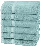 Pinzon Organic Cotton Hand Towels (6 Pack), Spa Blue