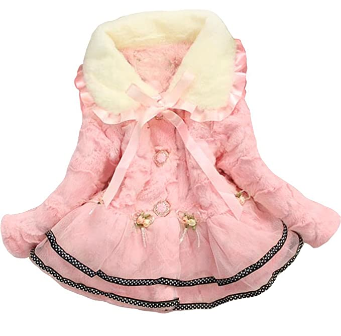 28ac77787 Amazon.com  New Baby Girls Kids Toddler Outwear Clothes Winter ...
