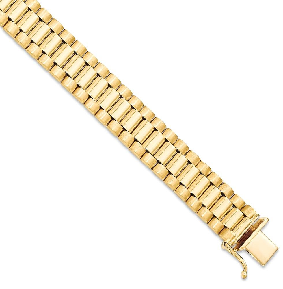 ICE CARATS 14k Yellow Gold Mens Bracelet 8 Inch H Link Man Men Fine Jewelry Dad Mens Gift Set by ICE CARATS (Image #2)