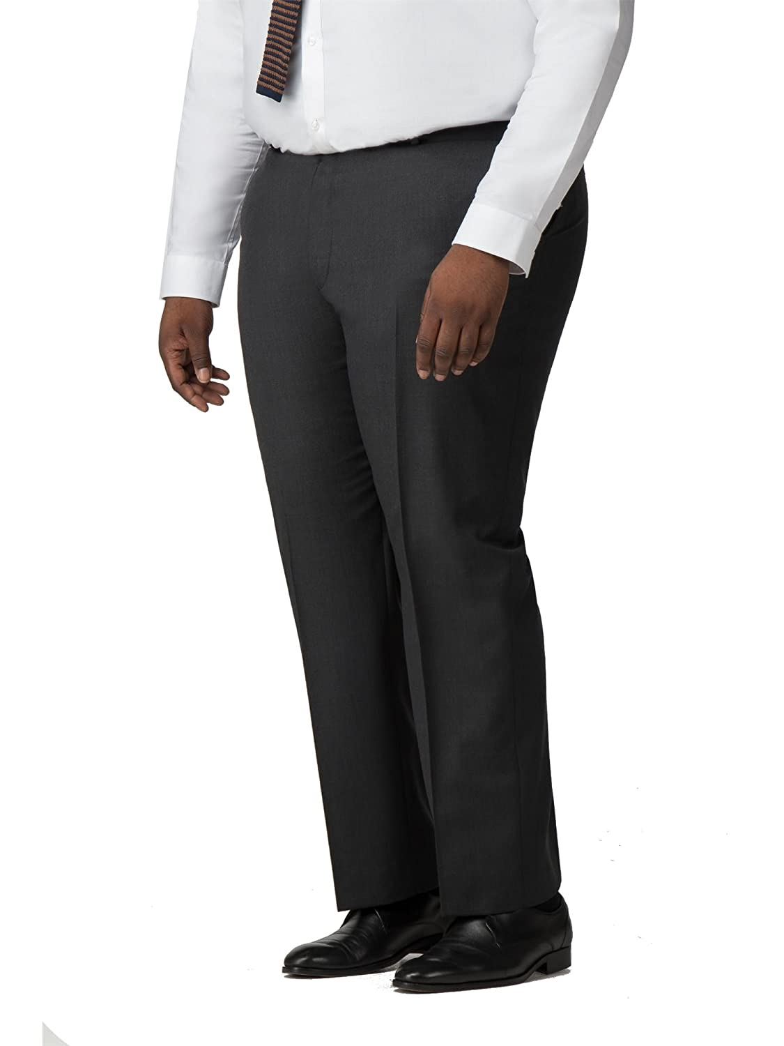 British Tailor Big+Tall Grey Micro Texture Regular Fit Trouser 0047164 by Suit Direct