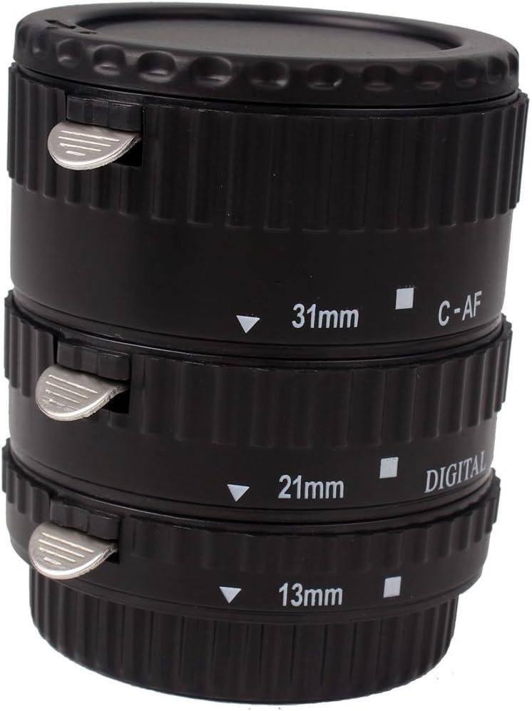 3 Pieces Plastic Auto Focus Macro Extension Tube Set For Canon EOS 5D2 60D 600D