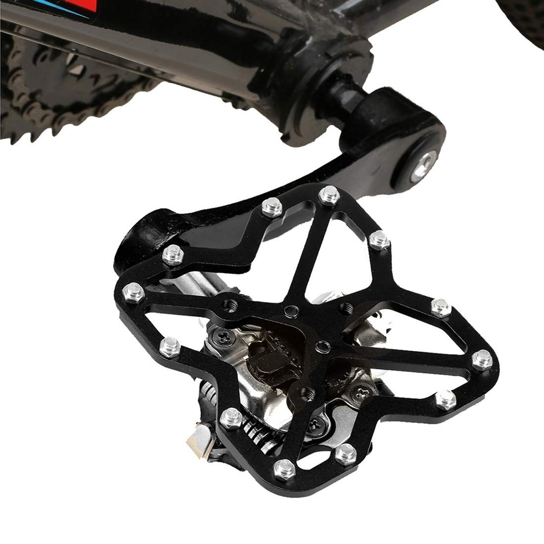 Black Songlin@yuan Road Bike Universal Clipless Pedal Platform Adapter Bicycle Mountain Bike shoes, Size  90  85mm Safety (color   Black)
