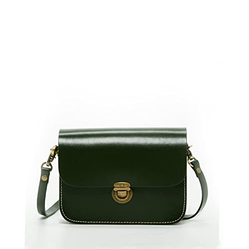 3100f54c0292 Vintage Crossbody Bags for Women - Dark Oliver Green Leather Purses and Handbags  Mini Cross body