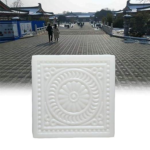 BESTOMZ DIY Molde para Cemento Molde para Hormigón Molde de Piedras de Pavimento Hacer Pavimentos/Caminos/ Suelos de Jardín Patio Balcón 32x32x6cm: ...