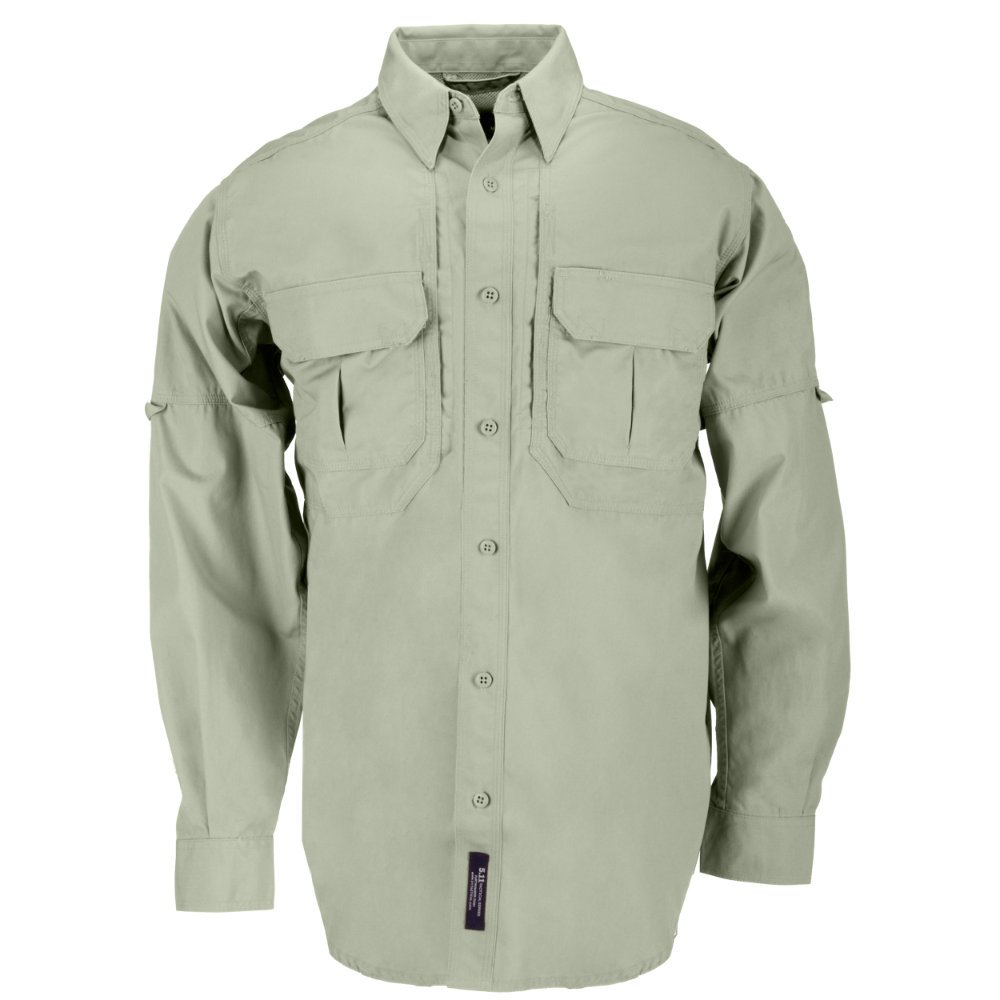 5.11 Tactical Tactical Long-Sleeve Shirt, Sage, X-Large