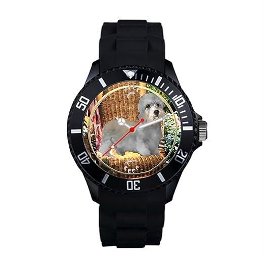 Mamá de perro plástico muñeca relojes Marcas plástico mejor muñeca relojes negro: Amazon.es: Relojes