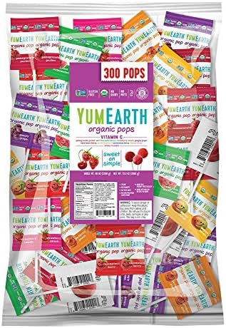 YumEarth Organic Vitamin C Lollipops, Assorted Flavors, 5 Pound Bag