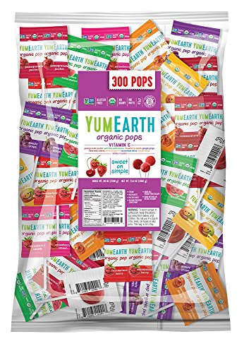 YumEarth Organic Vitamin C Lollipops, Assorted Flavors, 5 Pound Bag ()