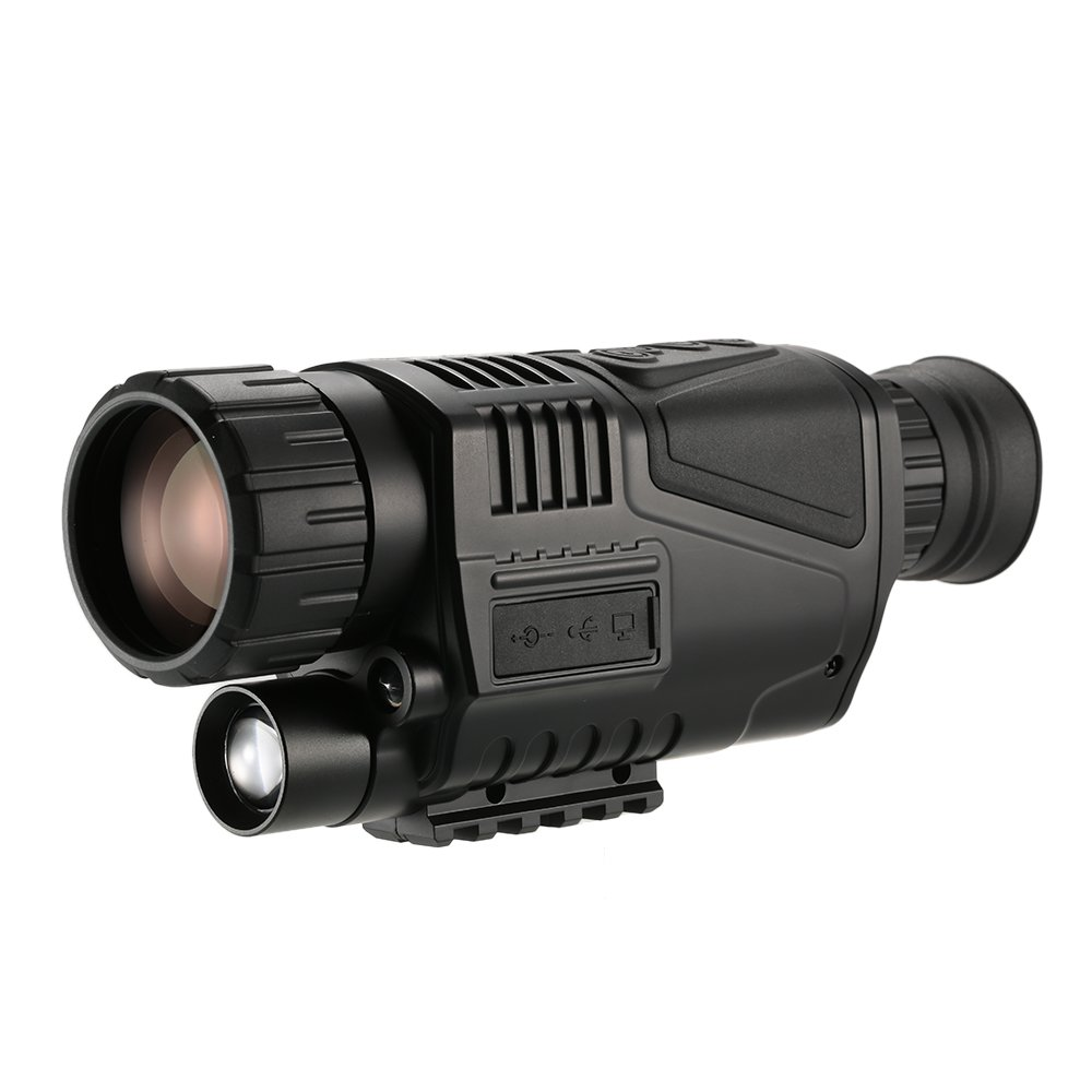 Lixada 5x40 Multi-functional Digital Night Vision Monocular Telescope with Camera Video Recorder Camcorder Function (Black) by Lixada