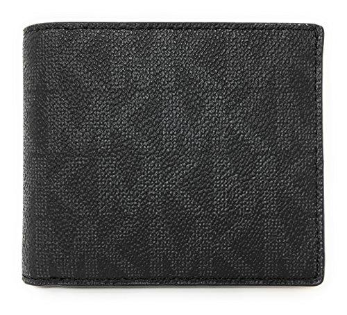 Michael Kors Jet Set Mens Billfold Wallet (Black PVC)