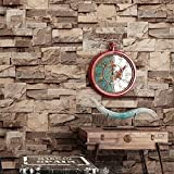 Blooming Wall 3d Faux Stone Brick Wall Mural Wallpaper for Bathroom Kitchen Livingroom Bedroom,Large Size,57 Square ft/roll (98201)