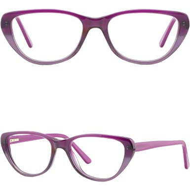 1ecea07edb Amazon.com  Wide Women Cat-eye Frame Large Plastic Prescription ...