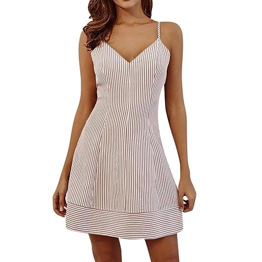 db7bca7e4515 SNOWSONG Women s Short Dresses Printing Spaghetti Strap Short Sleeve Mini  Dress Princess Dress Pink
