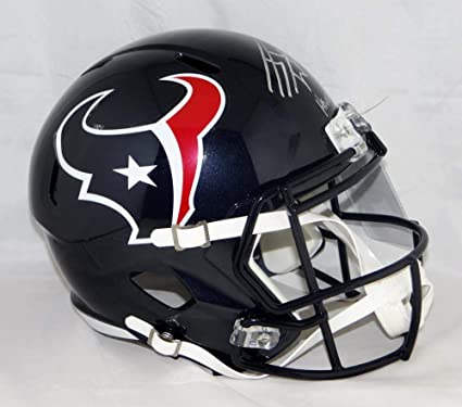 Autographed Jj Watt Signed Houston Texans Full Size Speed Helmet Houston  Strong- JSA Certified c6d26f85c