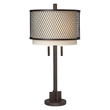 Amazon pacific coast lighting industrial double shade table pacific coast lighting industrial double shade table lamp in dark rust aloadofball Choice Image