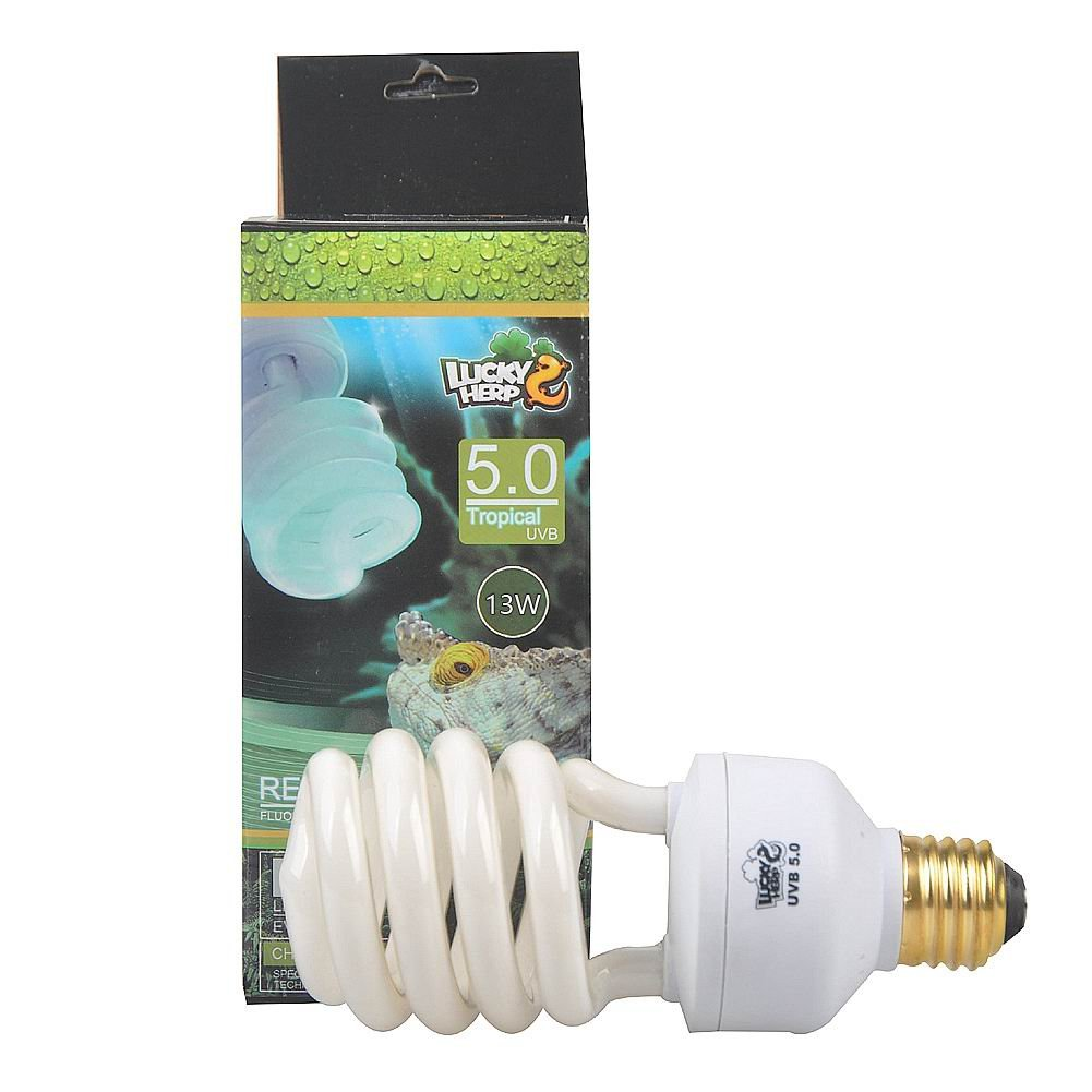 5.0 UVB Fluorescent Tropical Terrarium Lamp,13 Watts,26 Watt Available (13 Watt) Jinxu