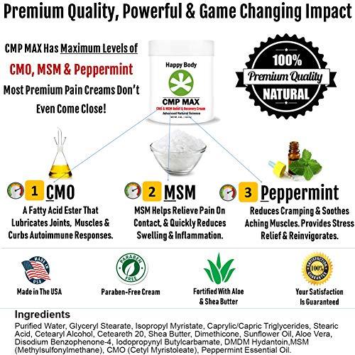 CMP MAX Natural Pain Relief Cream [4 oz], CMO and MSM Cream