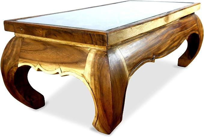 grosser Massivholztisch mit Farbtupfer antik | Dari Asia