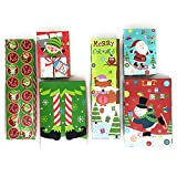 Add a cute tough of Christmas and save time wrapping using these boxes for your jewelry presents. Each set comes with 6 boxes in 2 different color assortments: (2) 4 x 3 inches, (2) 2 x 3 inches and (2) 2 x 8 inches. There's a different patte...