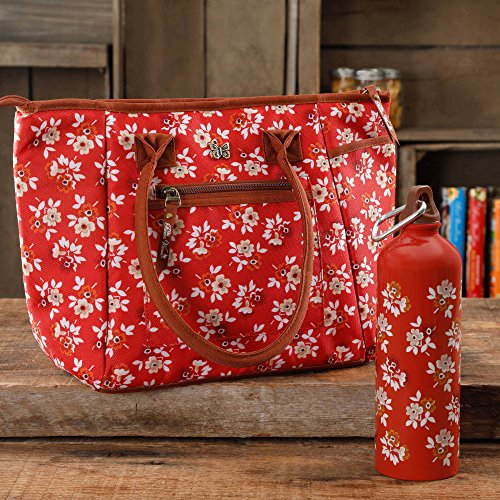 The Pioneer Woman Floral Totes Insulated Lunch Bag with Hydration Bottle- Floral (Louis Vuitton Canvas Belt)