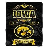 NCAA Iowa Hawkeyes College Label Raschel Throw, 50 x 60-Inch