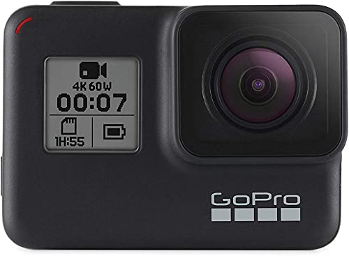 GoPro HERO7 Black Waterproof Digital Action Camera with Touch Screen 4K HD Video 12MP Photos Live Streaming Stabilization Renewed