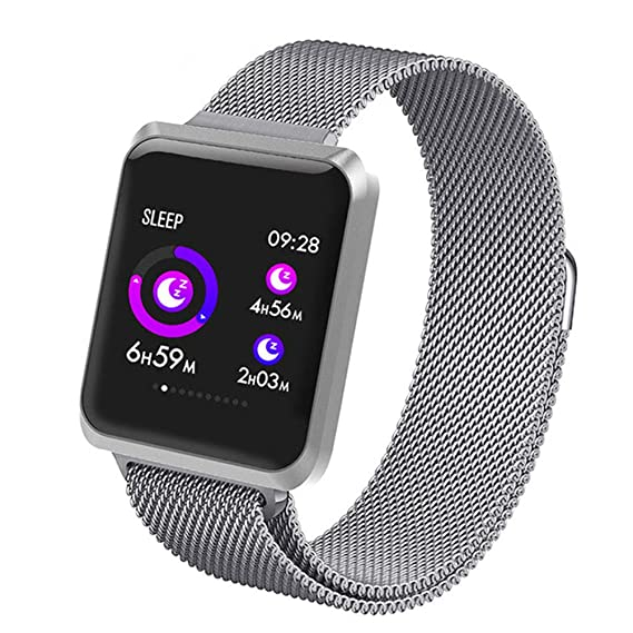 KSCD Bluetooth Smart Watch, Fitness Tracker Smart Watch Blutdruck-Pulsmesser, Farbbildschirm-Kalorienzähler, Schrittzähler, w
