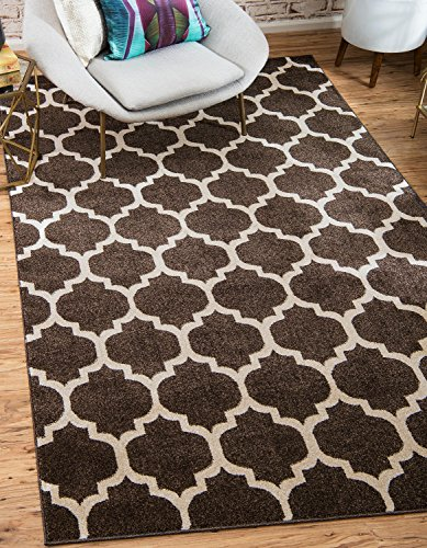 Unique Loom Trellis Collection Moroccan Lattice Brown Home Décor Area Rug (2' x 3') 2 Looms