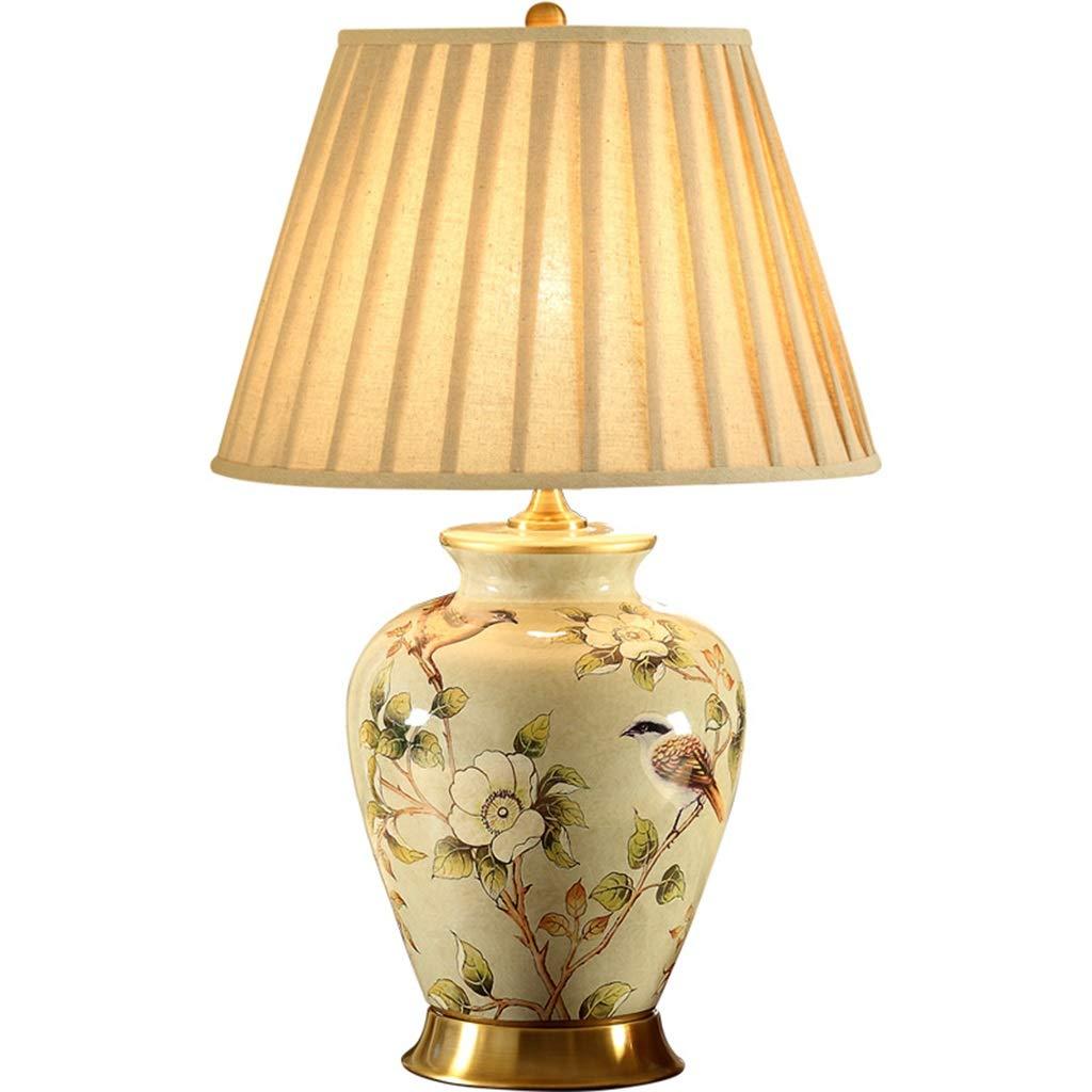 LED-Beleuchtung Schlafzimmer Nachttischlampe - Wohnzimmer Studie Retro Keramik Tischlampe E27
