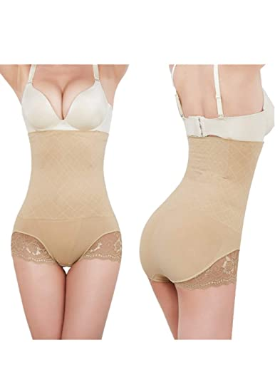 1ddb5af531 ZZpioneer Women s Body Shaper Control Panty Corset High Waist Lace Shapewear  Underwear Waisted Shaper Panty at Amazon Women s Clothing store