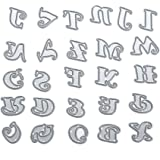 Demiawaking Alphabet Letters Cutting Dies Stencil Frame DIY Decoration Embossing Template for Scrapbooking Album Paper Card Making