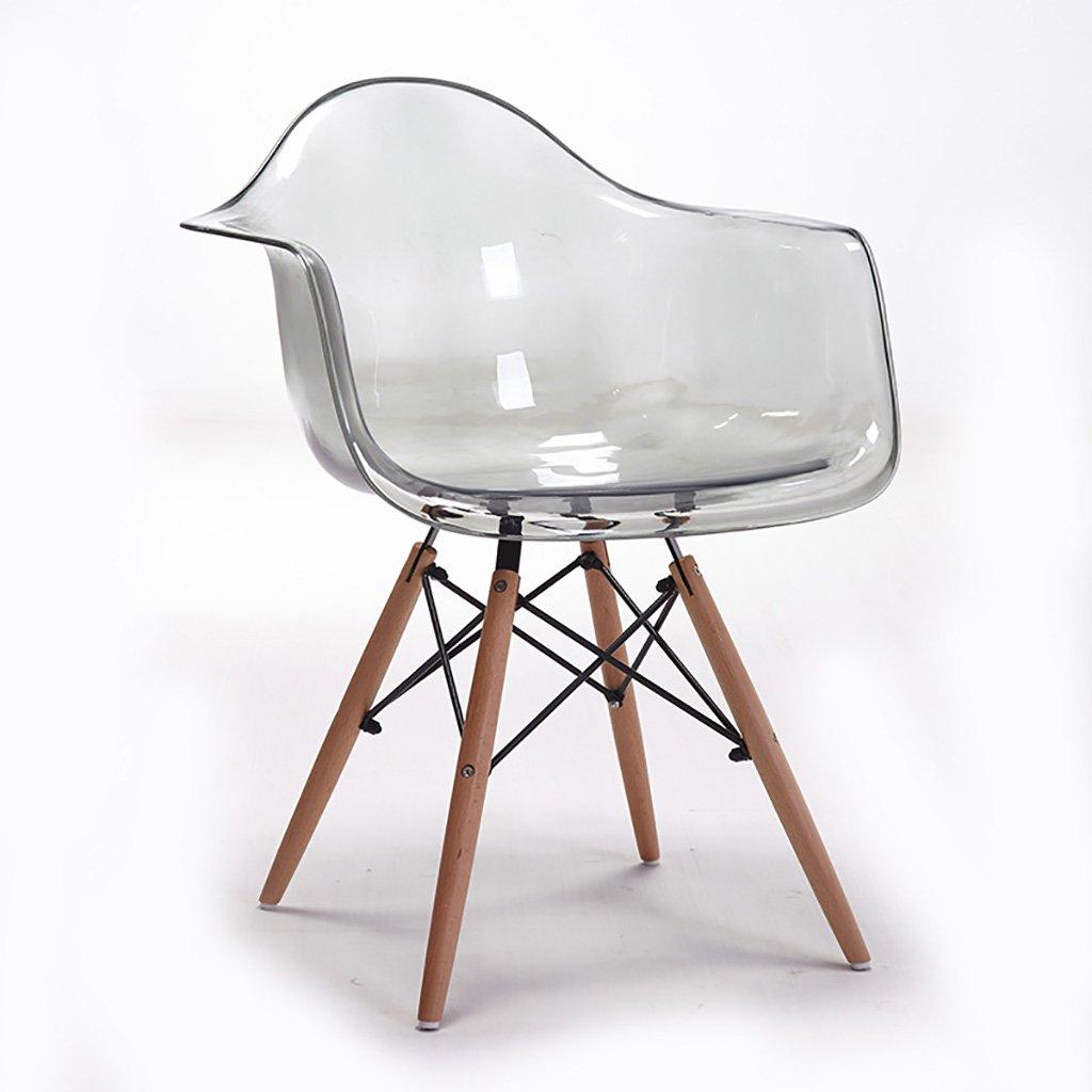QRFDIAN Esszimmerstuhl Sessel Stuhl Computer Stuhl Freizeit Stuhl transparent Stuhl Geisterstuhl Schlafsaal (Farbe : B)