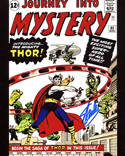 Stan Autographed 8x10 Photo - Stan Lee Journey into Mystery 83 Signed/Autographed 8x10 Glossy Photo. Includes Fanexpo Certificate of Authenticity and Proof of signing. Entertainment Autograph Original. Thor