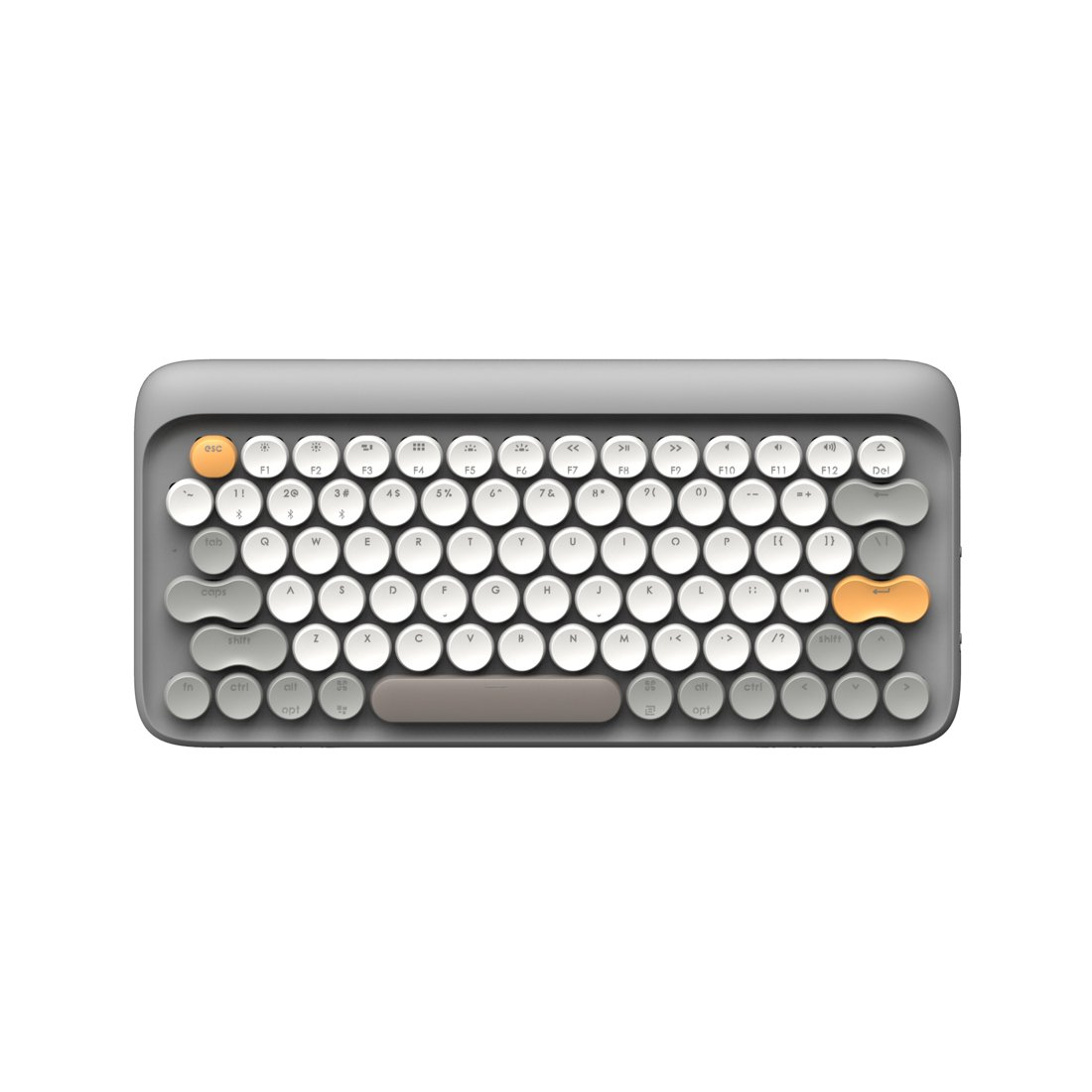 Bluetooth Mechanical Keyboard, LOFREE Four Season Wireless & USB Wired Keyboard with Gateron Blue Switch/White LED Backlit/Rechargeable Battery, Vintage Retro Keyboard for Mac, Android, Windows