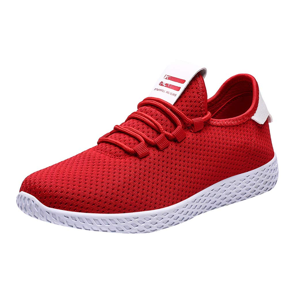 Men's Mesh Sneakers - Comfort Lightweight Breathable Woven Casual Slip-on Fashion Sport Running Shoes by Dacawin-Men Sneakers