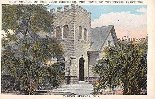 Tarpon Springs Florida Church Of Good Shepherd Antique Postcard ()