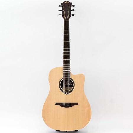 Acoustic Electric Guitars Lag T270dce Dreadnought Cutaway Acoustic Electric Guitar In Natural Finish
