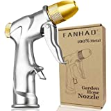 FANHAO Upgrade Garden Hose Nozzle Sprayer, 100% Heavy Duty Metal Handheld Water Nozzle High Pressure in 4 Spraying Modes for