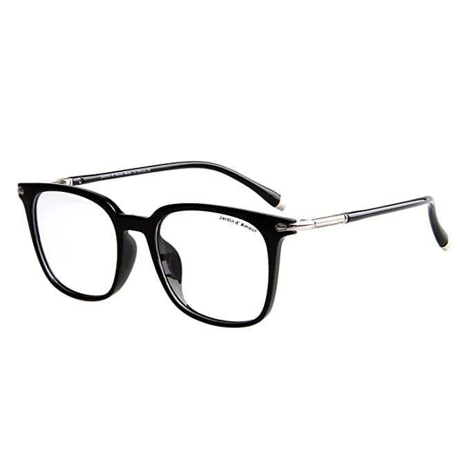 eb64bd2476f Jardin D amour Fashion Eyeglasses Non-Prescription Unisex Retro Frame Clear  Lens Glasses JA7206