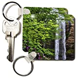 WhiteOak Photography Waterfalls - Waterfall in Georgia - Key Chains - set of 2 Key Chains (kc_38085_1)
