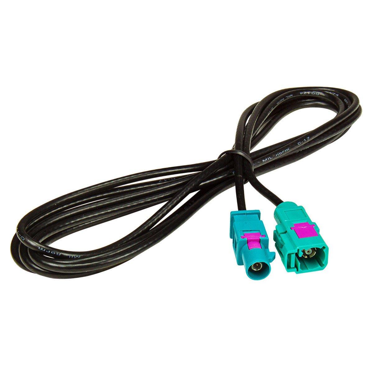 Rallonge 2 m pour antenne fakra mâ le vers femelle fakra rG174 cable tomzz Audio ® 1600-012